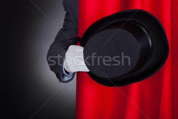маг Hat за этап занавес Сток-фото © AndreyPopov