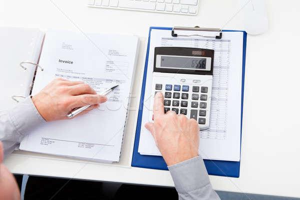 Imprenditore finanziare primo piano desk business ufficio Foto d'archivio © AndreyPopov