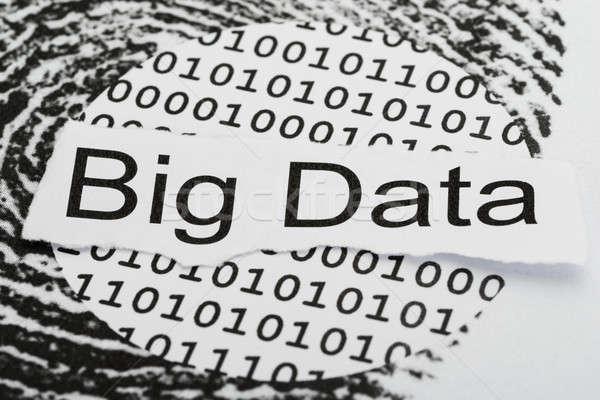 Nagy adat szöveg bináris kód szakadt oldal Stock fotó © AndreyPopov