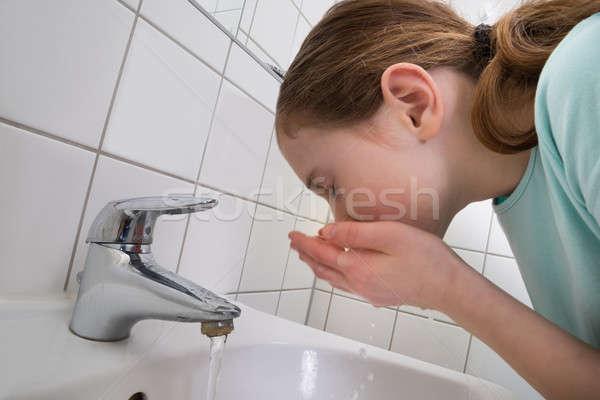 Girl Washing Mouth Stock photo © AndreyPopov