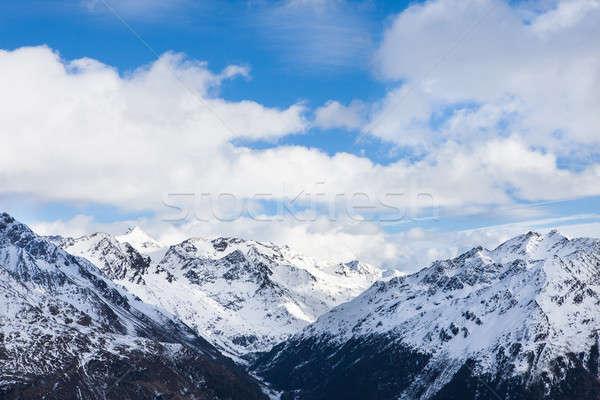 Mountains At Ski Resort Solden Stock photo © AndreyPopov
