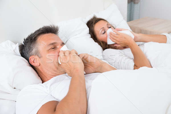 Couple Suffering From Cold Stock photo © AndreyPopov