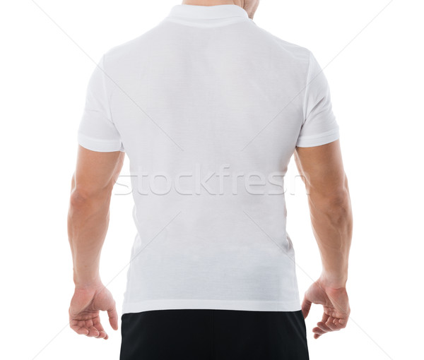 Rear View Midsection Of Man In Casuals Stock photo © AndreyPopov