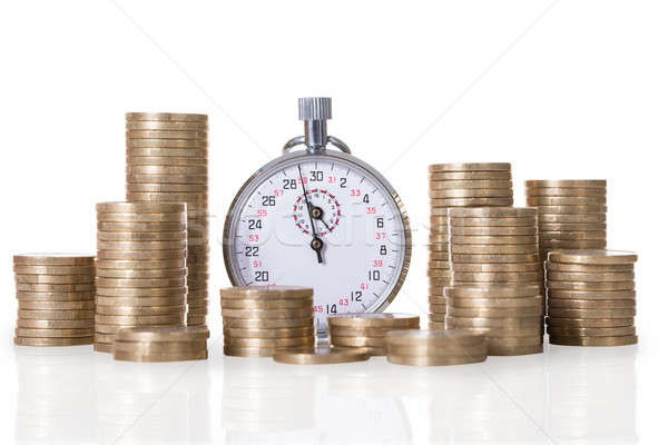 Stopwatch And Coin Stacks Stock photo © AndreyPopov