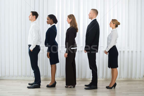 Businesspeople Standing In A Line Stock photo © AndreyPopov