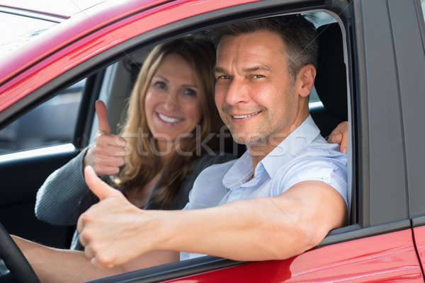 Couple Sitting Inside The Car Stock photo © AndreyPopov