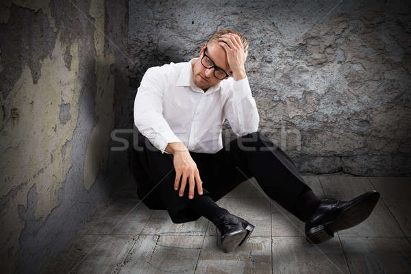 Young Worried Man Stock photo © AndreyPopov