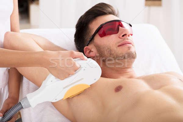 человека лазерного волос удаление лечение Сток-фото © AndreyPopov