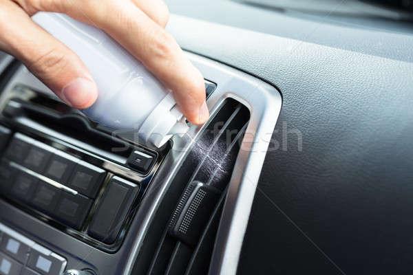 El temizlik klima şişe araba Stok fotoğraf © AndreyPopov