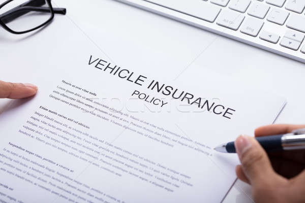 Person Filling Vehicle Insurance Policy Form Stock photo © AndreyPopov
