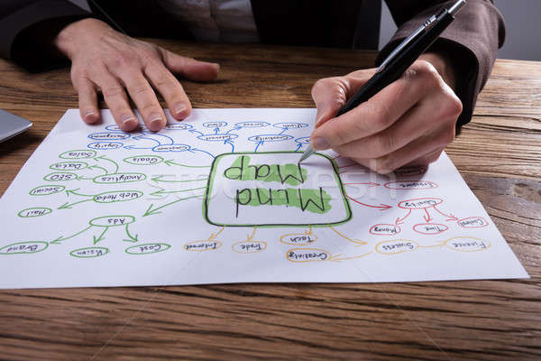 Stock photo: Businessperson Drawing Mind Map