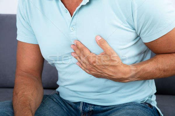 クローズアップ 男 胸 痛み 心臓発作 ストックフォト © AndreyPopov