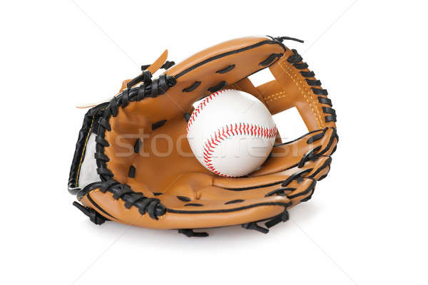 Gant de baseball balle isolé blanche image baseball Photo stock © AndreyPopov