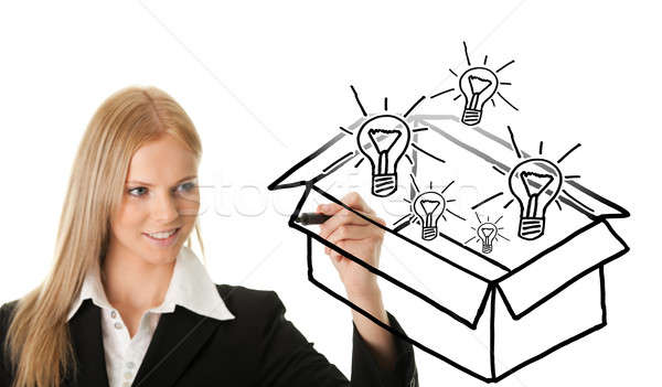 Ideas out of the box concept Stock photo © AndreyPopov