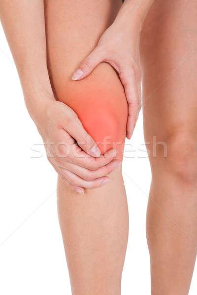 женщину ногу травма изолированный белый Сток-фото © AndreyPopov