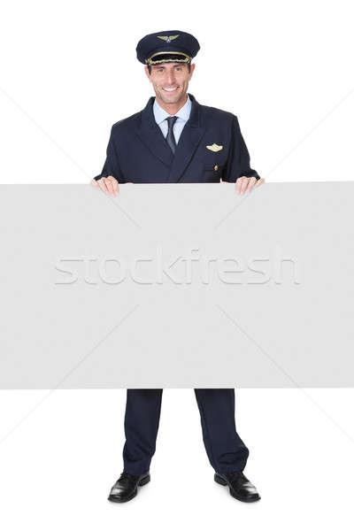 Portret pilota odizolowany biały szczęśliwy przemysłu Zdjęcia stock © AndreyPopov