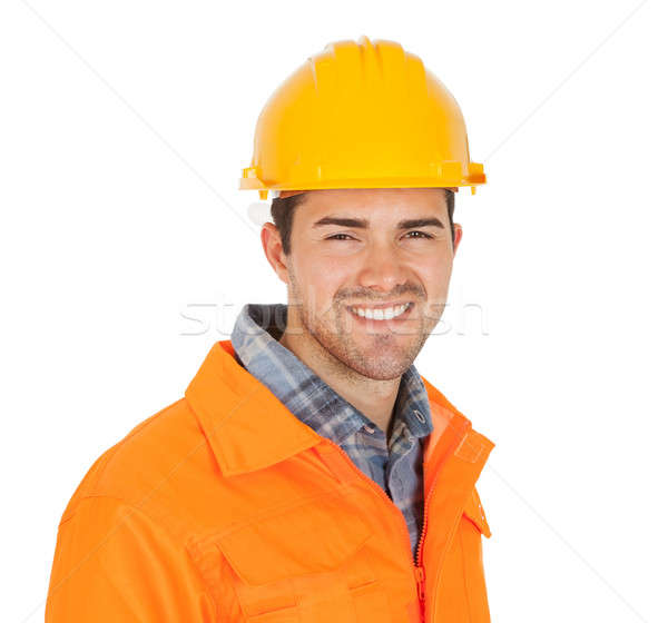 Portrait of worker wearing safety jacket Stock photo © AndreyPopov