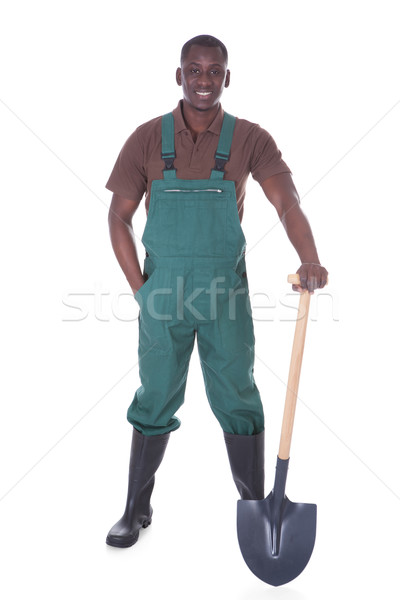 Male Gardener With Shovel Stock photo © AndreyPopov