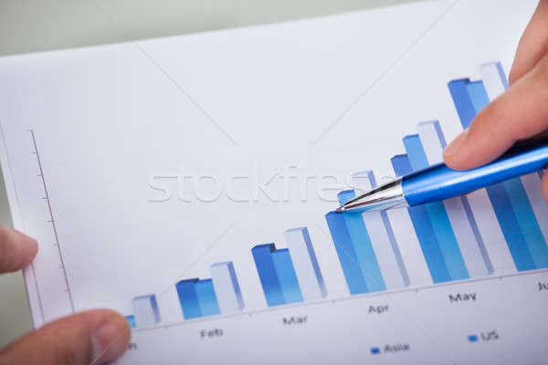 Businessman Analyzing Bar Chart Stock photo © AndreyPopov