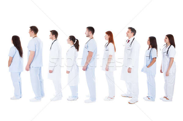large group of medical staff standing in a queue Stock photo © AndreyPopov