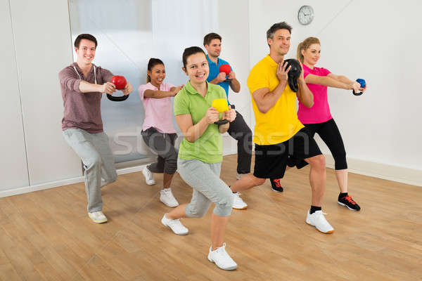 Multiethnic Group Of Happy People  Exercising Stock photo © AndreyPopov