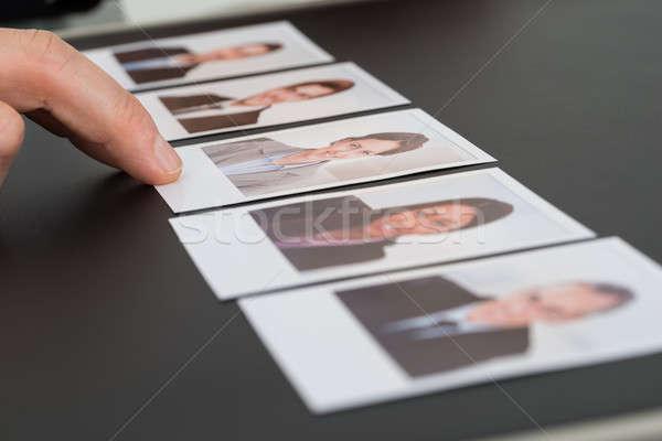 Személy választ fénykép jelölt közelkép személyek Stock fotó © AndreyPopov