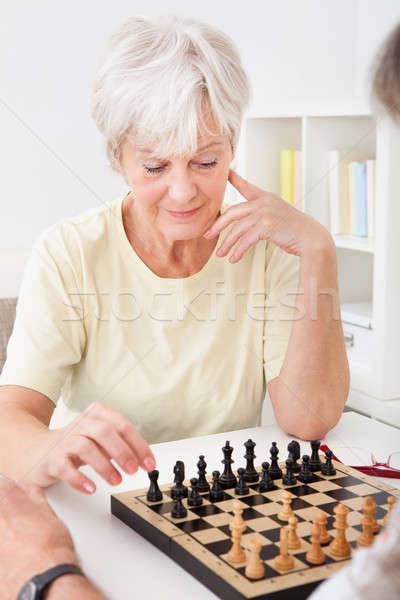 Senior Couple Playing Chess Stock photo © AndreyPopov