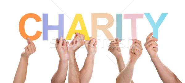 People Hand Showing Text Charity Stock photo © AndreyPopov
