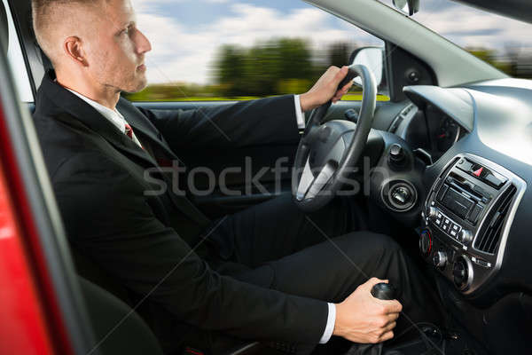 Confident Businessman Driving Car Stock photo © AndreyPopov