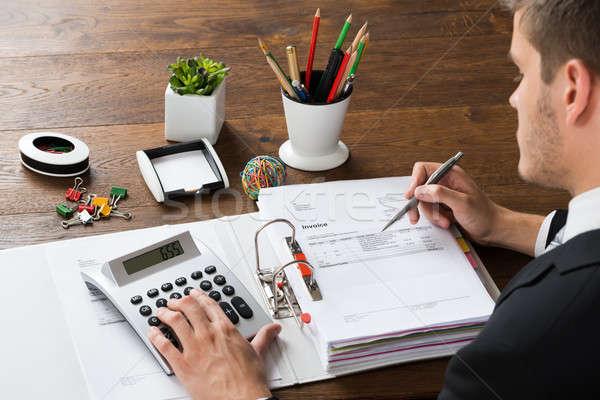 Imprenditore ricevimento desk primo piano mutui ufficio Foto d'archivio © AndreyPopov