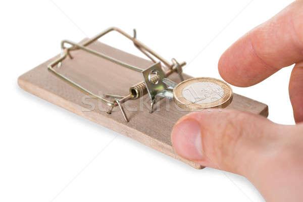 Hand munt business man muis achtergrond Stockfoto © AndreyPopov