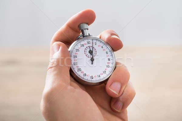 Affaires chronomètre bureau main Photo stock © AndreyPopov