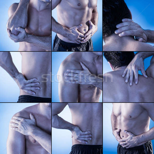 Set Showing Pain At Different Parts Of The Body Stock photo © AndreyPopov