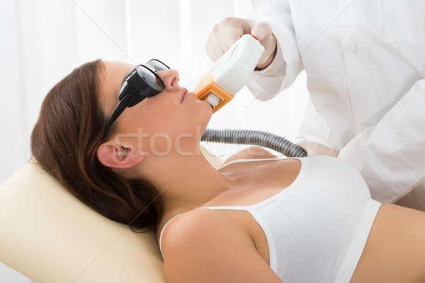 женщину лазерного волос удаление лечение лице Сток-фото © AndreyPopov