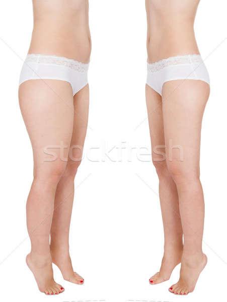 Kobieta ciało biały fitness Zdjęcia stock © AndreyPopov