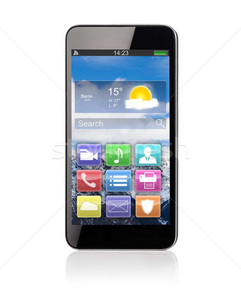Close-up Of Smartphone On Desk Stock photo © AndreyPopov