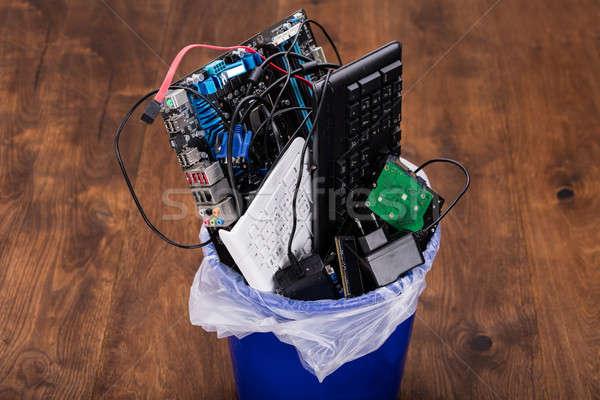 Hardware Equipment In Dustbin Stock photo © AndreyPopov