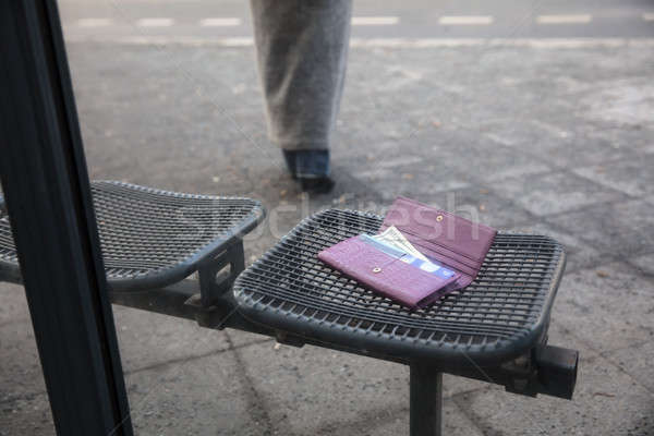 Lost Purse On Bench Stock photo © AndreyPopov