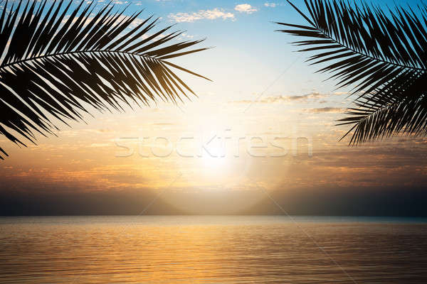 Stock photo: Sea Against Cloudy Sky During Sunset At Egypt