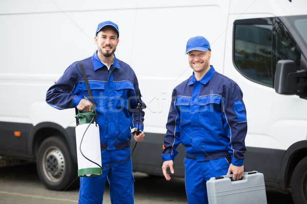 Portrait Of Two Pest Control Workers Stock photo © AndreyPopov
