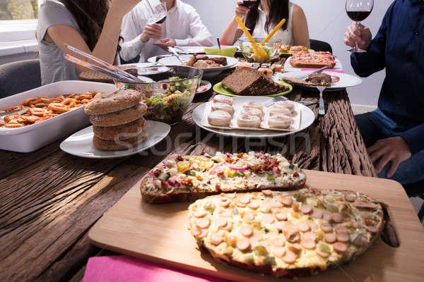 Varietà alimenti freschi tavola fresche fatto in casa alimentare Foto d'archivio © AndreyPopov