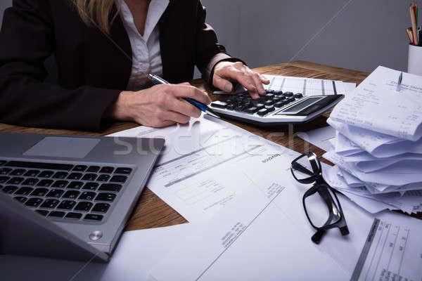 калькулятор служба бизнеса компьютер Сток-фото © AndreyPopov