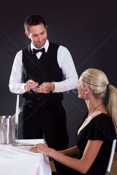 Waiter taking order Stock photo © AndreyPopov