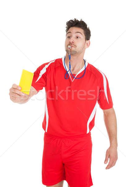 árbitro assobiar amarelo cartão Foto stock © AndreyPopov