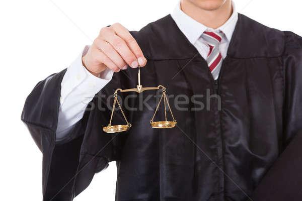 судья Весы книга молодые мужчины Сток-фото © AndreyPopov