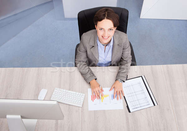 High Angle View Of Businesswoman Stock photo © AndreyPopov
