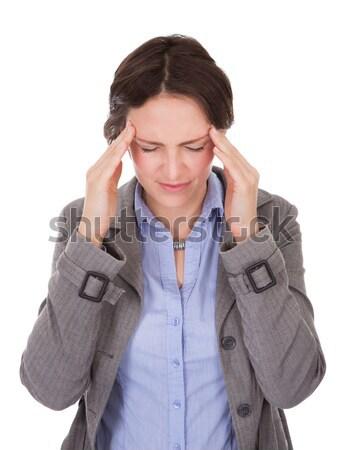 Stock photo: Businesswoman Suffering From Headache