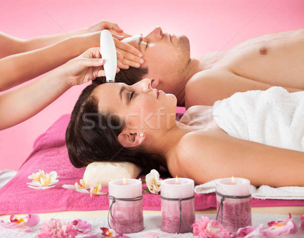 Couple Receiving Therapies At Spa Stock photo © AndreyPopov