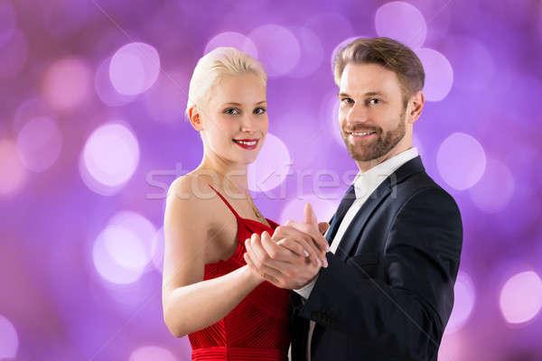 танцы bokeh портрет молодые счастливым Сток-фото © AndreyPopov
