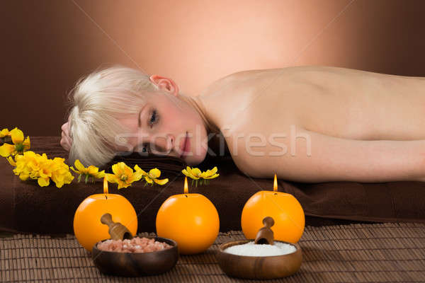 Woman Lying On Her Back Stock photo © AndreyPopov